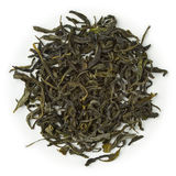 Green tea Mao Feng Shui. Blend raw isolated on pure white Royalty Free Stock Photos