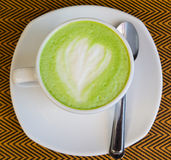 Green tea - matcha green tea. Smoothie  latte - japanese style Royalty Free Stock Image