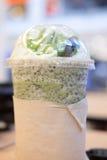 Green tea matcha latte smoothies Stock Photo