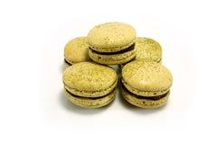 Green Tea Matcha Macaroon royalty free stock images