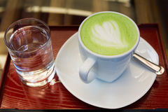 Green tea. Matcha  - smoothie  - matcha  latte - japanese style Stock Image