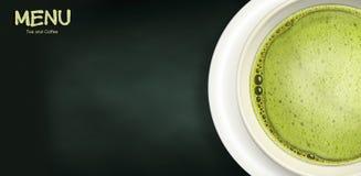 Green tea menu Royalty Free Stock Photos