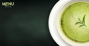 Green tea menu Royalty Free Stock Images