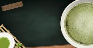 Green tea menu Royalty Free Stock Image