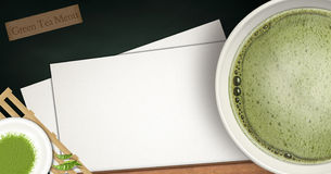Green tea menu Royalty Free Stock Images