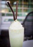 Green tea milk smoothie Stock Photo