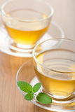 Green tea with mint Royalty Free Stock Photo