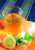 Green tea with mint and lemon Royalty Free Stock Image