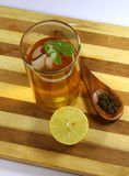 Green tea with mint and lemon Royalty Free Stock Photo