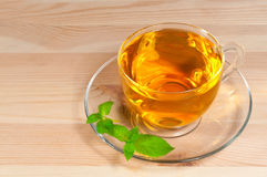 Green tea with mint Stock Images