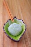 Green tea mochi Stock Images