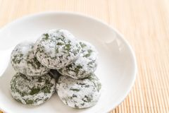 green tea mochi with red bean Royalty Free Stock Images