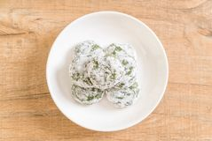 green tea mochi with red bean Royalty Free Stock Image