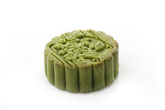 Green tea moon cake Stock Photo