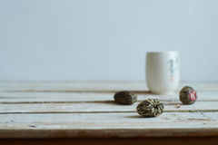 Green tea morning composition Royalty Free Stock Photography