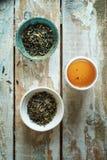 Green tea morning composition Royalty Free Stock Photos