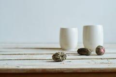 Green tea morning composition Royalty Free Stock Photo