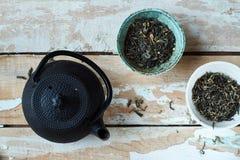 Green tea morning composition Stock Image