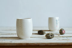 Green tea morning composition Royalty Free Stock Image