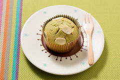 Green tea Muffin cake Royalty Free Stock Images