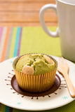 Green tea Muffin cake Royalty Free Stock Photography