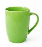 Green tea mug or cup. On white background Royalty Free Stock Photo