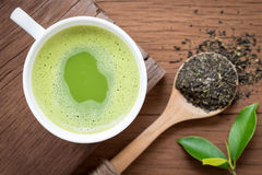 Green tea nutrition beverage for healthy Royalty Free Stock Images