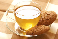 Green tea and oatmeal cookies Stock Images