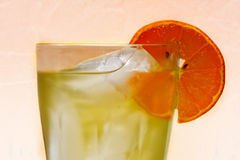 Green Tea with Orange Slice Stock Images