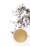 Green tea overhead Royalty Free Stock Photo