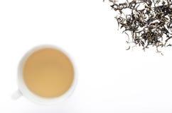 Green tea overhead Royalty Free Stock Photos