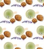 Green tea pattern Royalty Free Stock Photos
