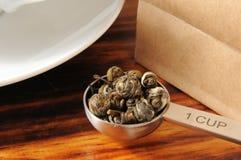 Green tea pearls Stock Photo
