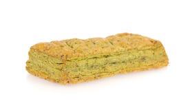 Green tea pie Stock Photo