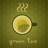 Green Tea Poster Royalty Free Stock Images