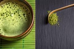 Green tea powder Stock Photos