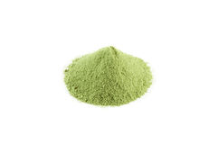 Green tea powder. Matcha green tea, japanese fine powder green tea Stock Images