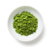 Green Tea. Powder on the plate Royalty Free Stock Images