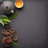 Green tea pu-erh Stock Images