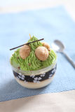 Green tea pudding Royalty Free Stock Image