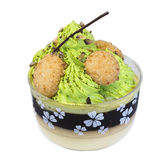 Green tea pudding Royalty Free Stock Photography