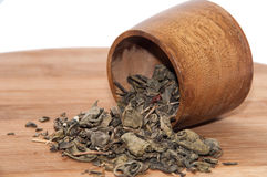 Green tea on the road Royalty Free Stock Image