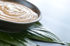 Green tea scrub Royalty Free Stock Image