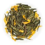 Green tea Sencha Peach Royalty Free Stock Image