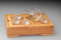 Green tea set Stock Photos