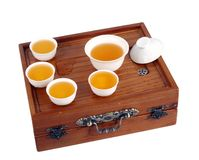 Green tea set Royalty Free Stock Photos