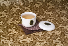 Green tea set Stock Photo
