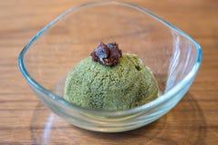 Green tea sherbet ice cream Royalty Free Stock Photos