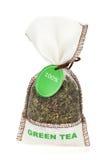 Green tea small bag Royalty Free Stock Photo