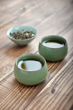 Green tea in small cups Royalty Free Stock Images